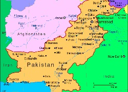 Pakistan map 250X180