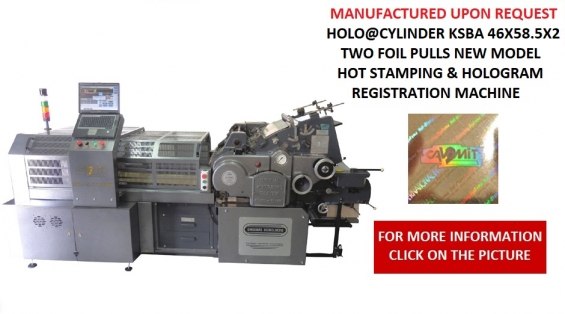 46X58.5 CAVOMIT HEIDELBERG HOLO@CYLINDER HOT STAMPING & HOLOGRAM REGISTRATION MACHINE I